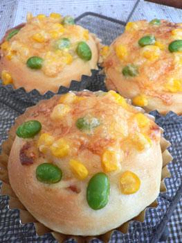 枝豆&コーンのパン