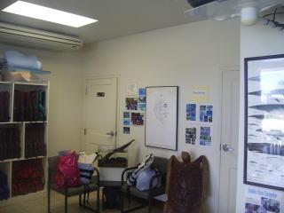 ネコマリンの受付の部屋
