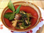 三つ葉とシメジの柚子胡椒煮♪