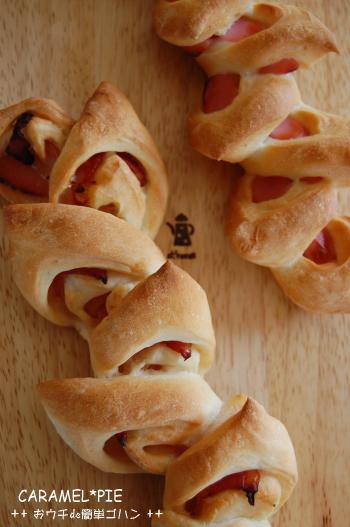 表面はカリっ☆naベーコンエピ・ソーセージエピとフランスパン