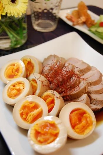 煮豚と煮卵