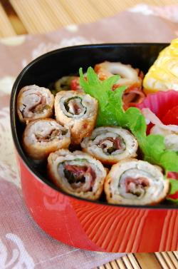 ☆豚肉の梅シソ巻き☆