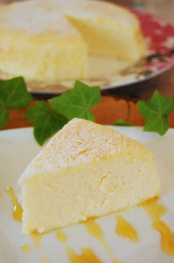 ジュワっとやわらかnaスフレカッテージチーズケーキ