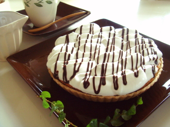 チョコレートシロップでおめかし♪*