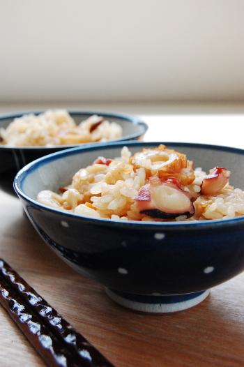 蛸とちくわの炊き込みご飯