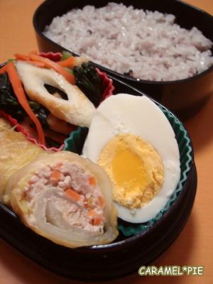 ロール白菜のお弁当^^