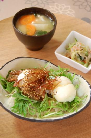 お醤油のタレが美味しい☆お刺身丼na晩ゴハン
