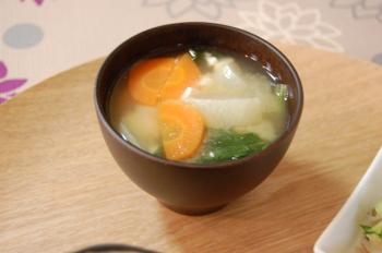 小松菜のお味噌汁