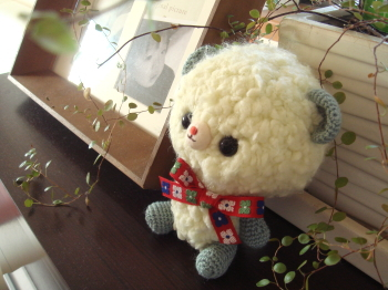 スッカリ編み方を忘れちゃってました~^ー^;