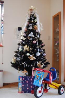 今年のツリーはこんな感じ