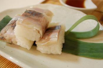 鰺の押し寿司