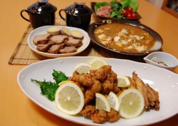 ボリュ~ミィな夕食(^▽^;)