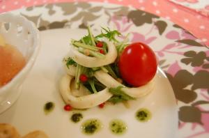 イカと水菜