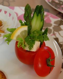 トマトカップのサラダ