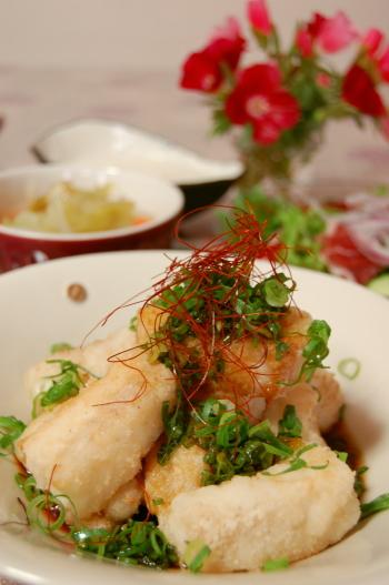 白身魚のピリ辛ネギポンソース