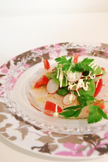 白身魚のお手軽カルパッチョ
