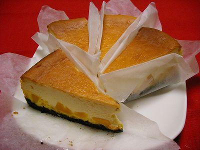 カボチャのチーズケーキ♥
