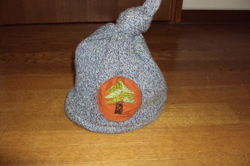 ノーム帽 ニット 木