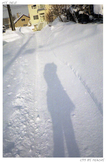 雪にセルフ