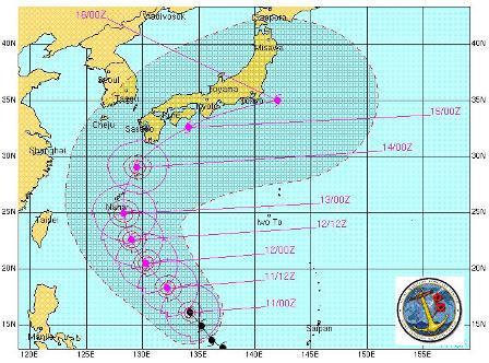 台風進路図