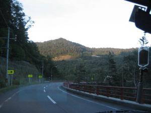 定山渓への道のり