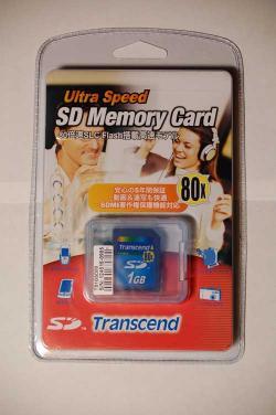 Transcend製 1G SDカード