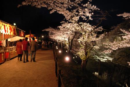 #001 桜と屋台