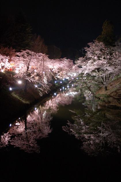#001 夜桜を
