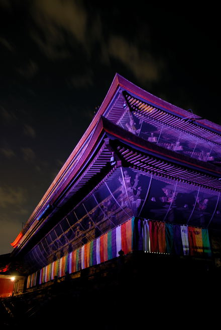 #004 紫色に染まる善光寺