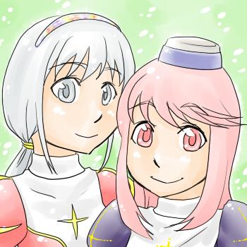 55ひなた&雪桜