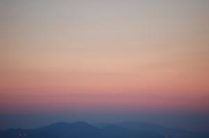 うっすら夕焼け ブログ
