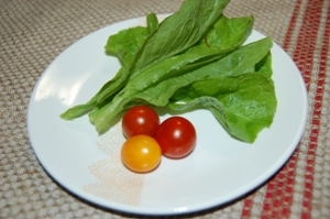 子供達の野菜