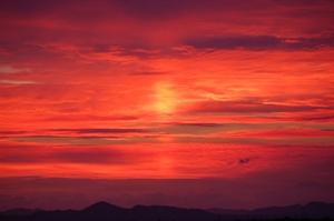真っ赤な夕焼け1 ブログ