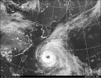 台風衛星画像