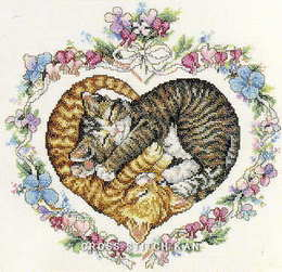 クロスステッチ館JCAのハート猫