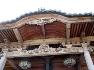 立江寺の彫り物