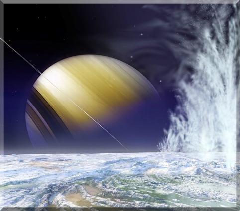 膨大な砕氷を噴出する土星の月 エンセラダス