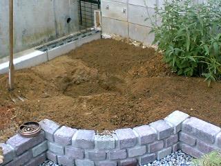 土壌改良剤混ぜ込み
