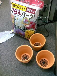 3.5号鉢とバーク