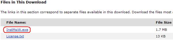 Windows 2000インストーラ