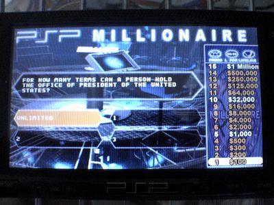 PSPでクイズミリオネア!PSPMillionaire_1.04