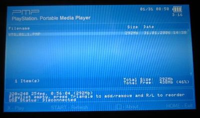 PSPでPMPファイルを見よう!PMP Mod v1.01 - M4g2
