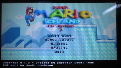 PSPでスーパーマリオをやろう!Super Mrio Bros: Iceland