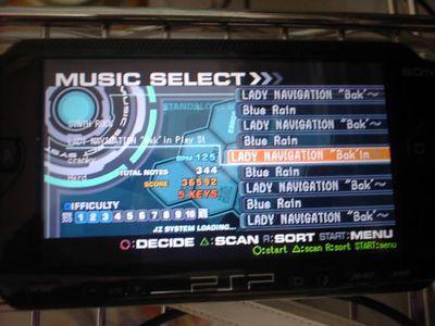 PSPでビートマニア!JzBMSPlayer for PSP v051119