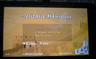 PSPで上海をやろう!LUA Solitaire Mahjongg v1.0
