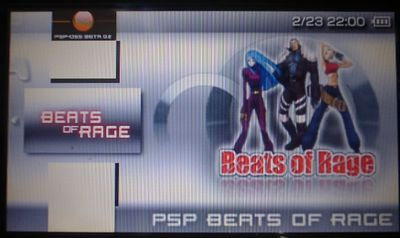 PSPでBeats of Rageをやろう!Beats of Rage v0.05