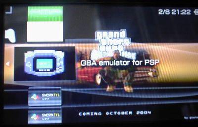 PSPでゲームボーイアドバンスをやろう!GBA Emulator For PSP v0.01