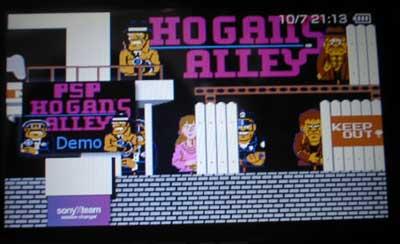 懐かしのゲームを無料でヤル!eWs-PsP Hogans Alley -DEMO-