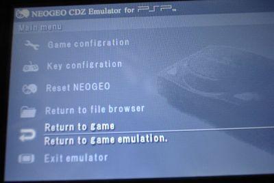 PSPでNEO GEO CDをやろう!NeoGeo CDZ Emulator for PSP v0.1