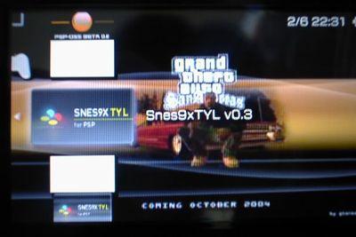 PSPでスーパーファミコンをしよう!SNES TYL 0.3